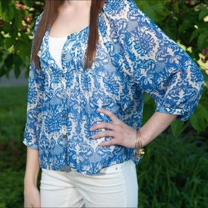 Nordstrom Liberty Love floral printed blouse top